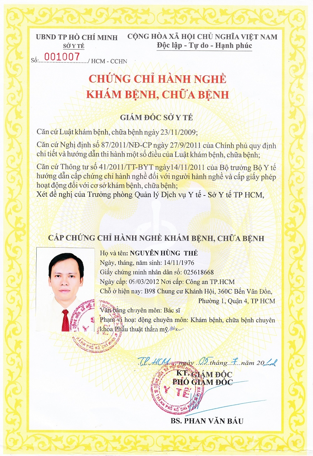 Chung chi hanh nghe Bs The